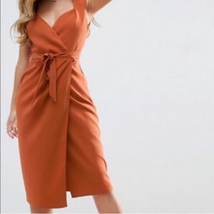 ASOS Wrap Tie Dress
